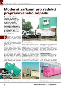 Moderní zařízení pro redukci přepravovaného odpadu