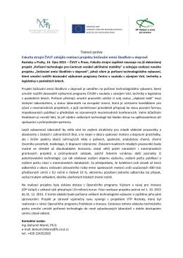 Tisková zpráva Fakulta strojní ČVUT zahájila realizaci projektu
