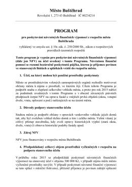 Program pro poskytování návratných finančních