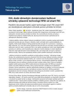 Balíkové schránky DHL vybavené technologií RFID pro - smart-TEC