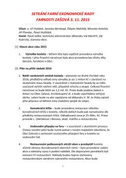 Zápis ze setkání ekonomické farní rady 03.11.2015