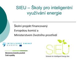 SIEU - Školy pro inteligentní využívání energie