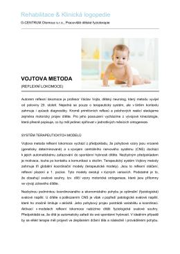 Vojtova metoda - Dětská rehabilitace Olomouc