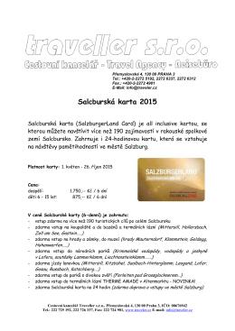 Salcburská karta 2015