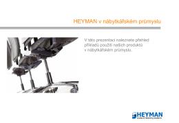 HEYMAN v nábytkářském průmyslu
