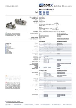 Technický list MK 32 DR - müller co
