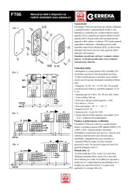 Instalační manuál FT06