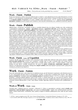 Work – Finish – Publish