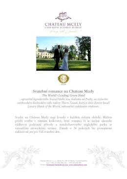 Svatební romance na Chateau Mcely