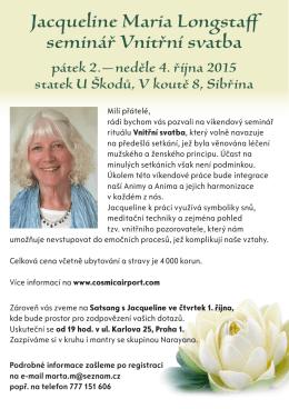 Jacqueline Maria Longstaff seminář Vnitřní svatba