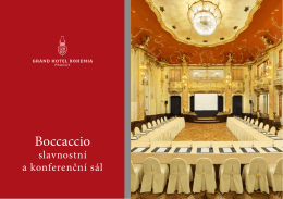 Konferenční brožura - Grand Hotel Bohemia