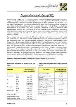 Zkapalněné ropné plyny (LPG)