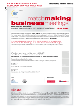 Matchmaking Business Meetings