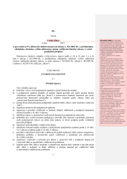 1 - III. Návrh VYHLÁŠKA ze dne 2015, k provedení § 19 a některých