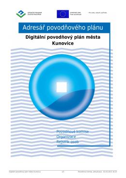 Povodňové komise - Povodňový plán města Kunovice