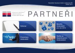 editorial prezentace dodavatelů Benefity dodavatelů pro rok 2015