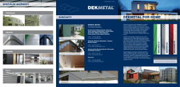 DEKMETAL FOR HOME