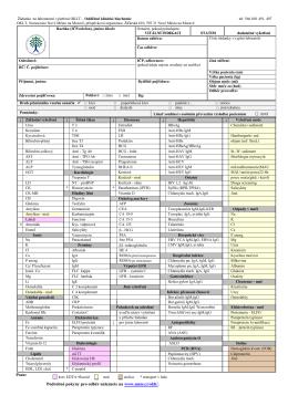 Žádanka na laboratorní vyšetření OKLT-OKB, serologie