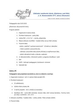 Zápis z pedagogické rady 19.3.2015