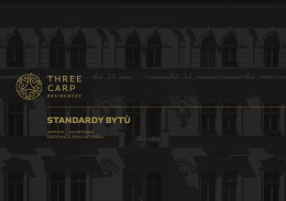 STANDARDY BYTŮ - Three Carp Residences