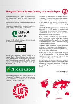 Limagrain Central Europe Cereals, s.r.o. nově s logem