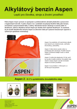 Alkylátový benzín Aspen