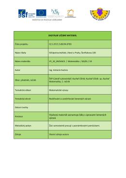 Rozšiřování a usměrňování lomených výrazů 19