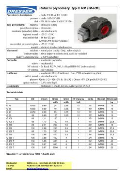 Provedení a konstrukce - podle P.E.D. & EN 12480 pevnost