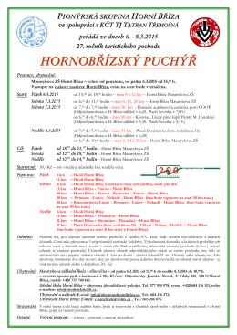 PIONÝRSKÁ SKUPINA HORNÍ BŘÍZA - OSH Plzeň