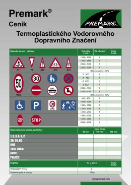 PREMARK Price List CZ