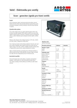 ValvE - Elektronika pro ventily - ARGO