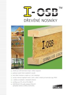 I-OSB™ dřevěné nosníky