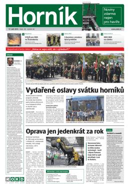 HORNÍK č. 32 ze dne 17. 9. 2015