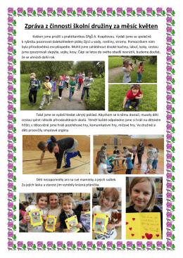 Zpráva z činnosti školní družiny za měsíc květen