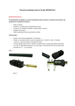 Návod na instalaci úsťové brzdy ROEDALE