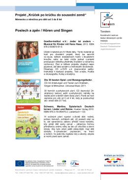 Poslech a zpěv / Hören und Singen