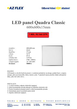 LED panel Quadra Classic