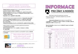 informace pro rodiče_2015 - ZŠ V. Kl. Klicpery, Nový Bydžov