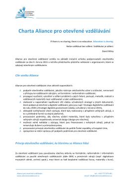 Charta Aliance pro otevřené vzdělávání