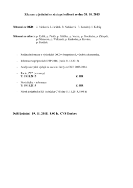 Záznam z jednání se zástupci odborů ze dne 20. 10
