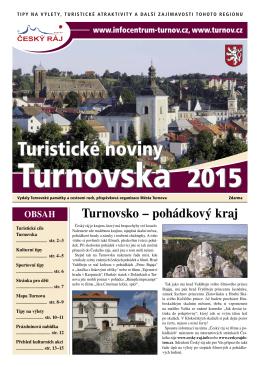 Turistické noviny Turnovska 2015