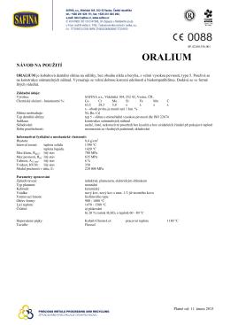 ORALIUM - SAFINA, a.s.