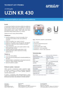 UZIN KR 430 - technický list