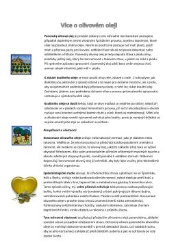 Více o olivovém oleji