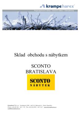Sklad obchodu s nábytkem SCONTO BRATISLAVA