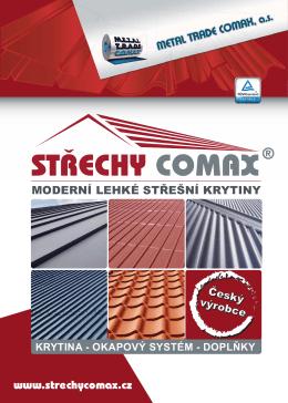 Katalog střešních krytin STŘECHY COMAX