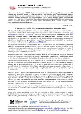 Tisková zpráva OBR Praha