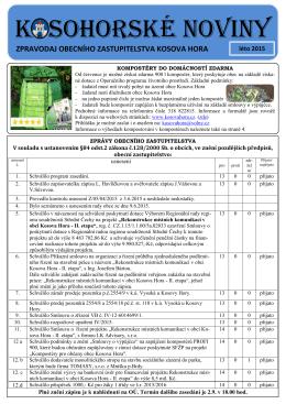 Kosohorské noviny léto 2015