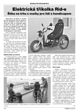 Vozka 2/2015 - Elektrická tříkolka Rid-e