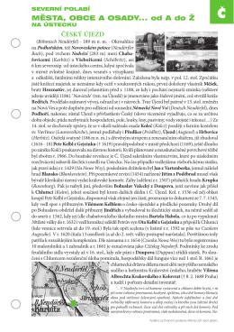 města, obce a osady... od a do Ž ČESký ÚJEZD
